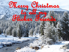 Merry Christmas to my Flickr Friends (inkknife_2000 (6.5 million views +)) Tags: christmas snow yosemitenationalpark tuolumneriver christmasgreetings dgrahamphoto