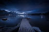 Snowy Pier (Jyrki Salmi) Tags: jyrki salmi nikon d600 nikkor 1635mm rytäniemi kotka finland evening pier blue night winter outdoor snow lights