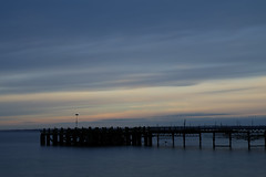 Totland Bay (pauldbrown) Tags: totland totlandbay disused iow island isleofwight pier sky solent sunset