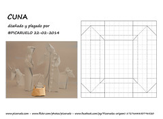 JESUS CRADLE - CP (PICARUELO) Tags: origami papiroflexia cuna cradle belen mistery christmas navidad wetfolding