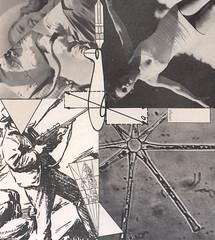 Pull! (kurberry) Tags: collage blackwhite analoguecollage vintageephemera shotgun triangle trajectory