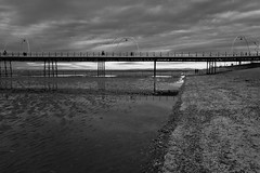 winter on the pier (tabulator_1) Tags: winter southport southportpier blackwhite blackandwhite