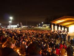 Candlelight Vigil - slain Officer Jerry Walker (VisualUniverse) Tags: bluelivesmatter candlelightvigil panasoniclumixgx85