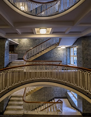 The original plan (katrin glaesmann) Tags: hamburg germany stairs wendeltreppe treppenauge eye spiralstaircase photowalkwithmichael fotowalkmitmichael fotowalkmitmichio treppe banister esplanadebau 19121915 architektenjgrambatzundwjolasse jugendstil artdeco