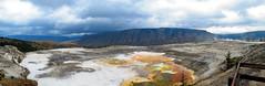 Mammoth Hot Springs Panorama (21mickrange) Tags: mammothhotsprings yellowstonenationalpark wyoming usa unitedstates upperterrace sulphur limestone hotsprings geothermal caldera 310 explore