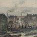 PISSARRO Camille,1896 - Port de Rouen, St-Sever (Orsay) - Detail 15
