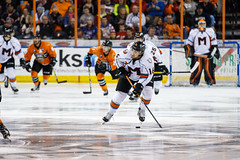 "Missouri Mavericks vs. Quad City Mallards, December 31, 2016, Silverstein Eye Centers Arena, Independence, Missouri.  Photo: John Howe / Howe Creative Photography • <a style=""font-size:0.8em;"" href=""http://www.flickr.com/photos/134016632@N02/31972638521/"" target=""_blank"">View on Flickr</a>"