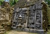 Mask Temple, Lamanai, Belize (ott.geoffrey) Tags: masktemple lamanai belize centralamerica temple sculpture face mayan ruins stone carving