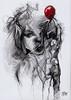 globo rojom (Andrés Casciani) Tags: poesía poetry lápiz drawing mixedmedia art oliveriogirondo balloon girl face