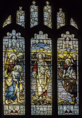 Stoke Rochford, Ss Andrew & Mary's church window.