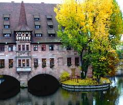 Nuremberg - Spital (be there...) Tags: nürnberg bayern deutschland bavaria germany sehenswürdigkeit spital pegnitz river flus architecture autumn tree