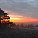 Sunrise colours on the common (Andrew Boxall) Tags: landscape chobham common sunrise colourful trees mist colour clouds silhouettes surrey heathland february 2017 uk south england