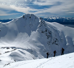 the tahoe team in the bariloche backcountry