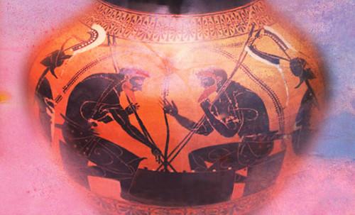 "Petteia - Ludus Latrunculorum  / Iconografía de las civilizaciones helenolatinas • <a style=""font-size:0.8em;"" href=""http://www.flickr.com/photos/30735181@N00/32522202295/"" target=""_blank"">View on Flickr</a>"