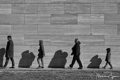 In Step (alsacienne) Tags: people bw nga street instep candid linedup