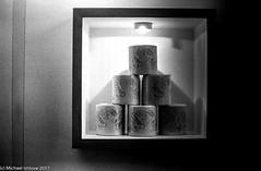 170218 - Paper Pyramid (mishlove1) Tags: 50mm18 bw blackandwhite canada downtown downtowntoronto film filmcamera kodak kodaktrix400 kodal400tx michaelishlove minolta ontario outandabout toronto thepowerplant