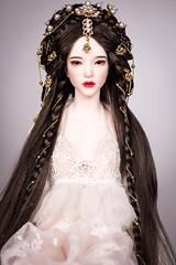 "Shangrila in 6-7 ""size (Amadiz) Tags: wig wigs amadiz amadizstudio abjd doll dolls fashion iplehouse bjd hairstyle costume portrait fid miho shangrila fantasy asian princess luxury hairdo"