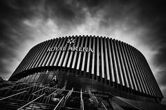 Royal Arena, Copenhagen (Bo Hvidt) Tags: fujifilmxt2 xt2 fujinonxf1024mmf4rois xf1024mm bohvidt blackwhite bw blackandwhite monochrome nik nikcollection silverefex royalarena ørestaden orestad skyarchitecture
