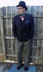 3-8-2017 Today's Clothes (Michael A2012) Tags: this mans spring style willner willners special derby bowler felt hat burberry double waistcoat handmade breasted hand sewn handsewn express mix timex ll bean mason executive imperial