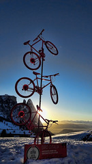 20170215 (leosagnotti) Tags: biciclette bicycles sunset backlight mountians alps italy sciliar tramonto dolomiti
