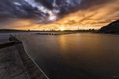 Colour Splash (Crouchy69) Tags: sunset dusk landscape seascape ocean sea water coast clouds north narrabeen pool beach sydney australia long exposure