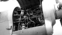 krakow_038 (rhomboederrippel) Tags: rhomboederrippel june 2015 fujifilm xe1 poland krakow crakow polish air museum plane russian turboprop engine antonow an26 monochrome bw