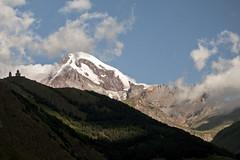 Mt Kazbek 5047m (Ullsclucs) Tags: mountain church georgia landscape nikon peak mount caucasus d90 kazbek