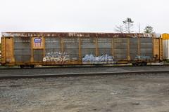 Slog Erok Jaber (BombTrains) Tags: road railroad art up train bench graffiti paint pacific tag graf union rail spray graff freight slog autorack jaber fr8 ssw erok benching 80558