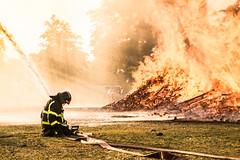 lost battle (bjdewagenaar) Tags: holland color colors festival fire raw minolta sony bonfire fireman alpha firefighter drama lightroom gorinchem zomerfeest timmerdorp