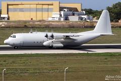 Tepper Aviation --- Lockheed L-100-30 Hercules --- N2679C (Drinu C) Tags: plane aircraft aviation sony lockheed panning dsc hercules mla lmml l10030 tepperaviation hx100v n2679c adrianciliaphotography