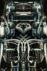 (Tau Zero) Tags: dream engine motor biomechanical giger digitalmirror deepdream