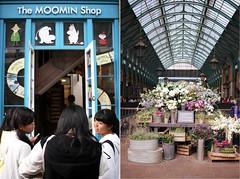 Covent Garden (The Art of Exploring) Tags: uk flowers england london moomin coventgarden moomins bouquets floraldisplay londonshopping flowerbunches moominshop thingstodoinlondon