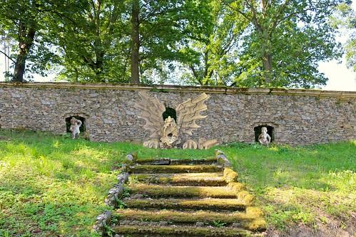 Greillenstein. Barockgarten. Wasserkaskade 1710