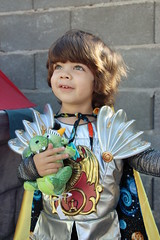 This year's Halloween costume (StarsApart) Tags: castle halloween costume toddler dragon knight tripp
