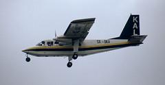 SX-DKA. KAL Aviation Britten-Norman BN-2B-27 Islander (Ayronautica) Tags: aviation athens islander scanned april 1994 brittennorman lgat hellenikon kalaviation bn2a27 sxdka emmantinahotel ayronautica