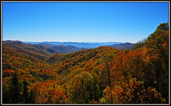 Great Smoky Mountains National Park (Jerry Jaynes) Tags: park trees fall leaves haze fallcolor overlook greatsmokymountainsnationalpark tripodphotography nikkor1685vr