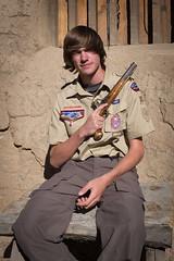 Matthew with a flintlock (gstreech) Tags: colorado gun unitedstates northamerica flintlock bentsfort picketwirecanyon troop870