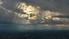 LIFE IS GOOD (Irene2727) Tags: arizona sky nature clouds landscape power view tucson rays mtlemmon coth5