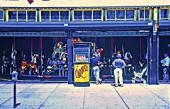 Carousel, Coney Island, New York (2 of 2) (gg1electrice60) Tags: nyc newyorkcity beach brooklyn coneyisland seaside carousel organ boardwalk amusementpark newyorkstate seashore atlanticocean newyorknewyork amusements ticketbooth carnivalrides carouselhorse surfavenue bandorgan surfave boroughofbrooklyn brooklyncounty