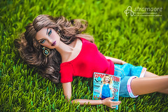 Natalia (astramaore) Tags: blue red hot green nature beauty field fashion magazine toy glamour doll outdoor tan property natalia shorts 16 earrings chic royalty tanned ~lovephotography~