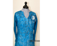 Women's tunic (Orli Felt) Tags: blue felted handmade womens tunic orlifelt