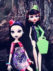 Elissabat and Draculaura (eneida_prince) Tags: photo doll dolls photoshoot photos vampire mh mattel 2015 monsterhigh draculaura elissabat osalina monsterhigh2015 schoolsout frightscameraactionhauntlywood