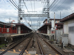 201509463 Kyto 'Fushimi-Inari' railway station (taigatrommelchen) Tags: railroad urban station japan central perspective railway transit mass kyto 20150939