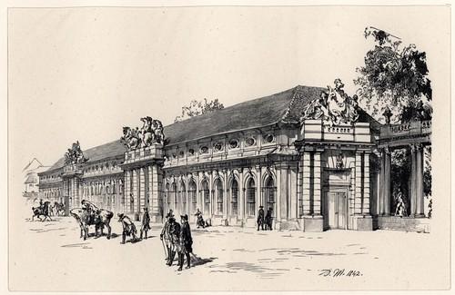 Marstall in Potsdam (1842)