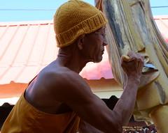New paint (tGENTeneeRke along the Mekong river) Tags: thailand newpaint buddhistmonk tgenteneerke phonphisai templewatluang provincenongkhai photorolandodesmet