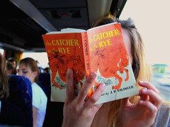 the catcher in the rye (mailuig) Tags: travel portrait orange girl reading book hands teenager salinger thecatcherintherye youngphotographer teenagephotographer