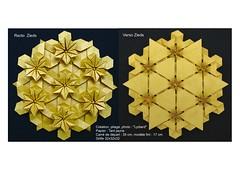 Zieds (LydiaDiard paperfolledingue) Tags: flower art geometric fleur paper 3d origami hexagon fold papier tessellation tesselation paperfolding volume volum tant lydiard géométrique pliage hexagone paperfold pliagedepapier lydiadiard paperfolledingue