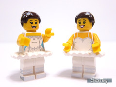 Ballerina duet (WhiteFang (Eurobricks)) Tags: city pet white castle history sports animal town costume ancient lego god ninja background space 15 indoor hobby medieval medical series minifig myth mecha distribution collectable occupation minifigures cmfs