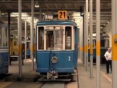 Ce 2/2  2 (1928) der Museumslinie 21  im Depot Burgwies (Tram Museum Zürich) (hrs51) Tags: public museum schweiz switzerland suisse 21 zurich transport tram depot historical zürich streetcar svizzera strassenbahn tmz trammuseum museumslinie burgwies