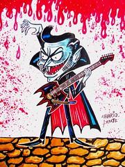 Dracula Guitar Player (mariolabate) Tags: art guitar vampire cartoon dracula horror fuzz garagerock